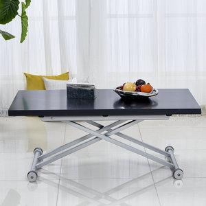 甬力创意可升降茶几简约现代餐桌两用小户型客厅茶几桌折叠多功能