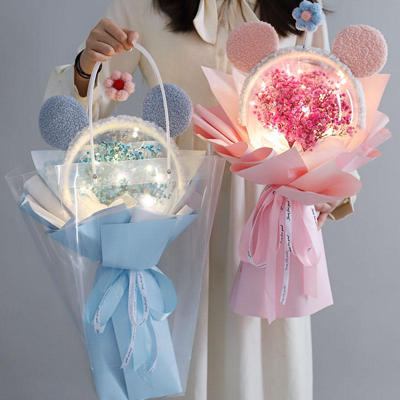 实用精致可爱高级感仪式感创意网红发箍花束送小女生日礼物少女心