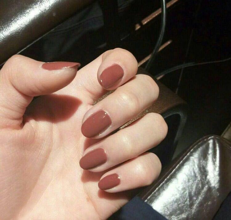 可拆卸流行色新款全套美甲片韩版法式指甲贴纸穿戴手指简单指甲贴