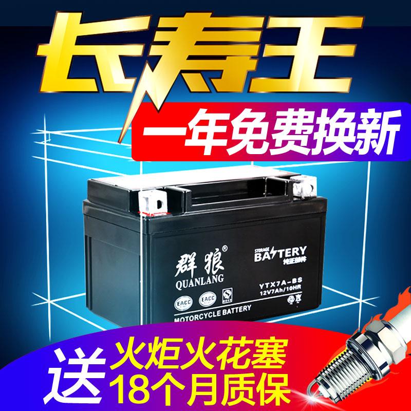 摩托车电瓶12v通用免维护助力车125鬼火踏板弯梁车干电瓶蓄电池9a