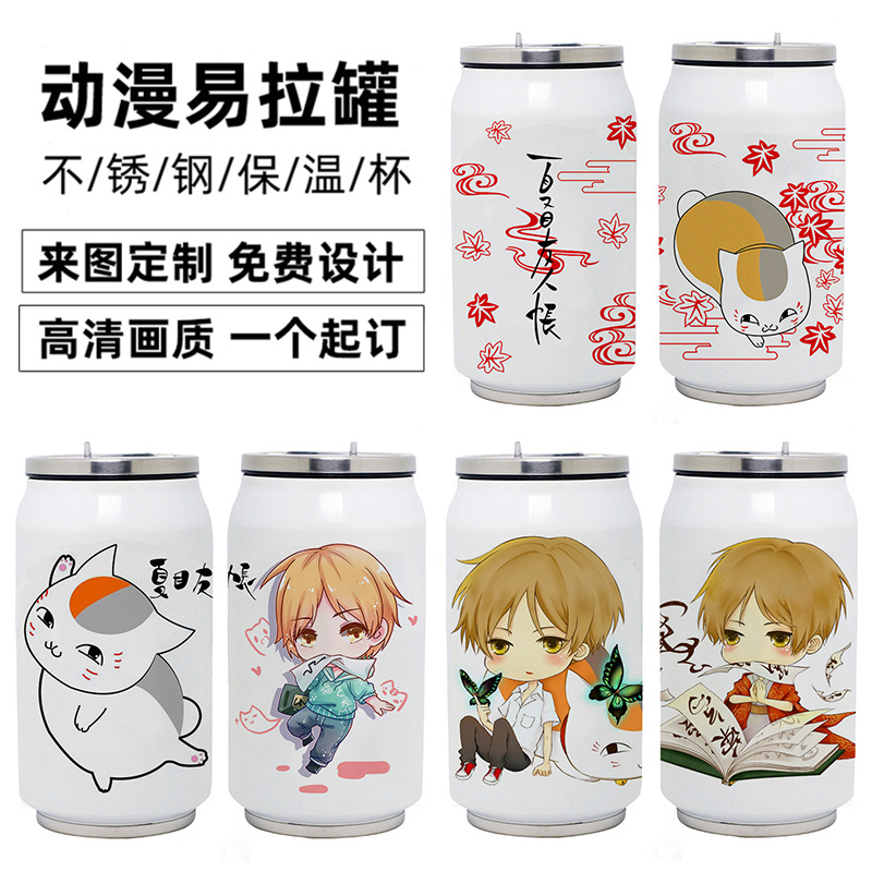 Cartoon heat preservation cup xiamu friends account pop can students water cup xiamu Guizhi cat teachers stainless steel cup