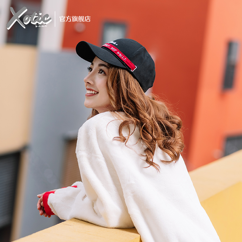 Xotic official bridge long ribbon, easy to close, grand seal cap, baseball cap, sun protection and face repair in spring and summer