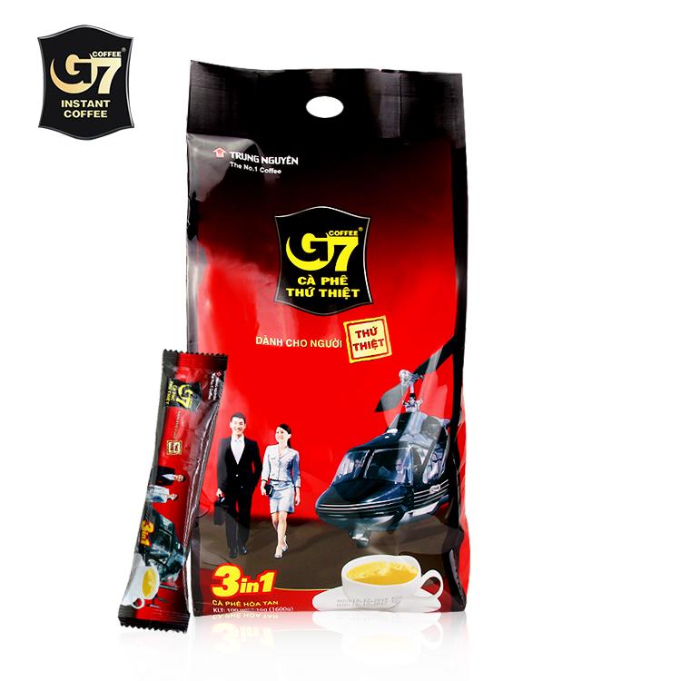 Бесплатная доставка вьетнам оригинальный импортный g7 кофе 1600g в оригинал G7 три в одном скорость растворить что напиток кофе 16g100 статья