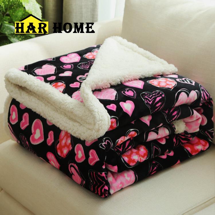双层仿羊羔绒毛毯加厚双层冬季盖毯珊瑚绒毯被子法兰绒毯子单双人