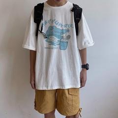 2019夏季宽松T恤男卡通创意短袖 B213-6785-P38控49