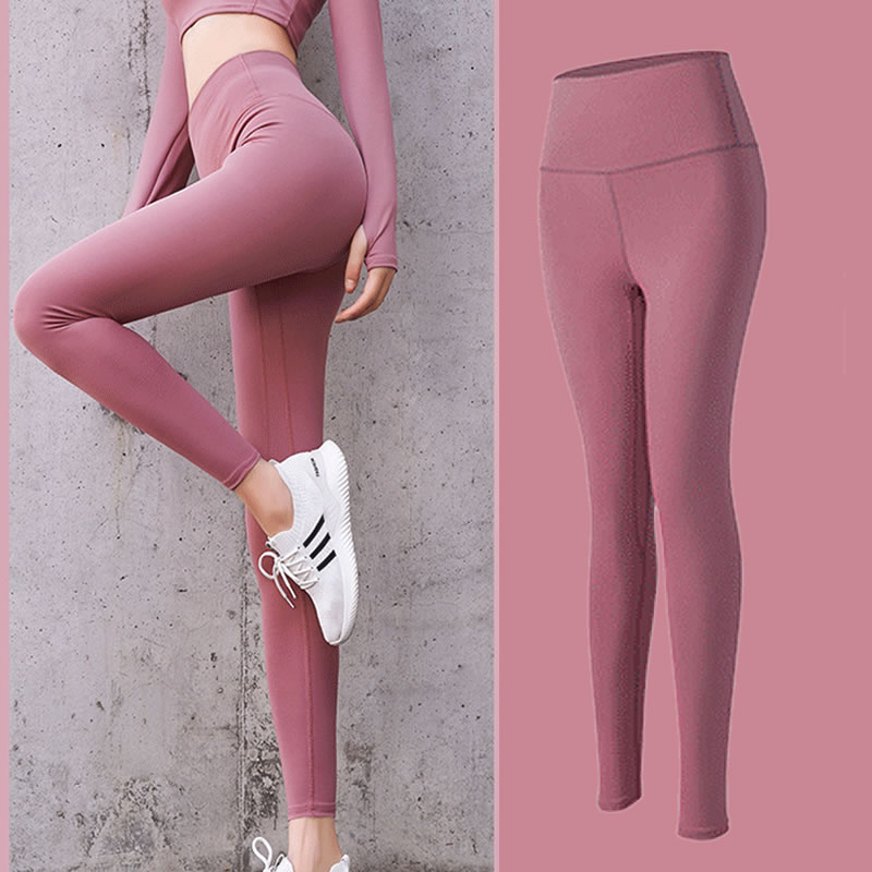 New style peach hip fitness pants womens elastic tight exercise Leggings high waist, hip lifting and abdomen closing running Yoga Pants summer