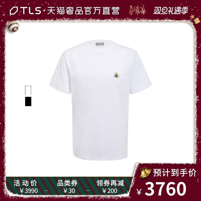 DIOR HOMME/迪奧 KAWS合作款19秋冬純棉小蜜蜂刺繡男士短袖T恤