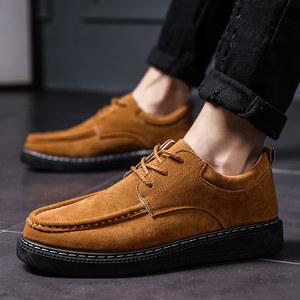 秋季磨砂工装鞋复古潮男鞋子韩版大头鞋马丁短靴英伦圆头休闲皮鞋