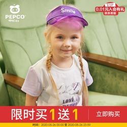 小猪班纳童装女童短袖T恤2020夏季新款小童宝宝圆领上衣卡通印花