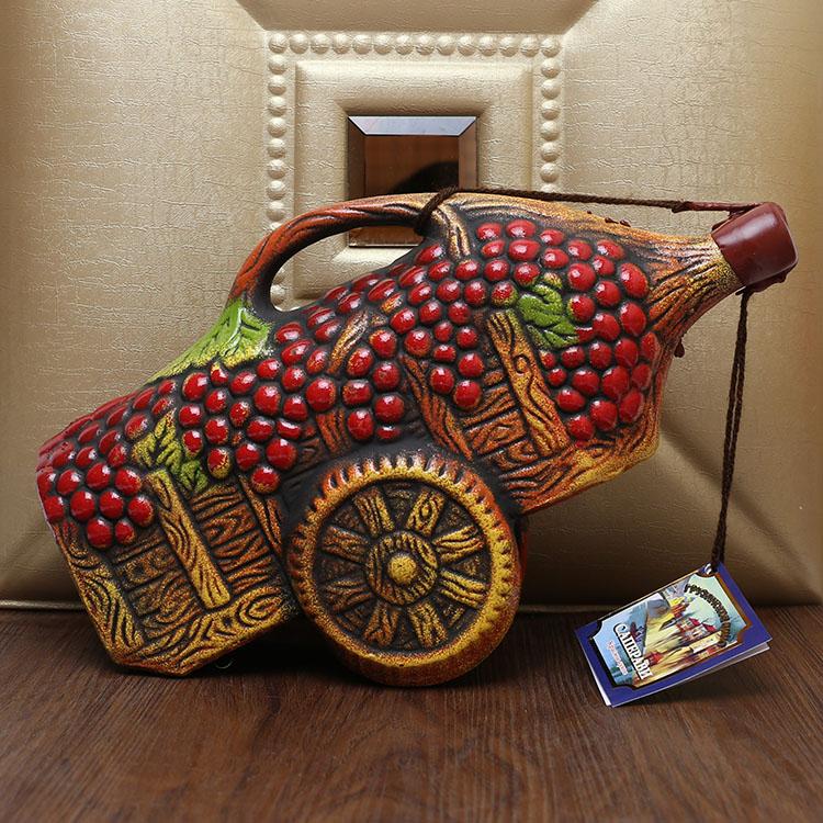 俄罗斯进口格鲁吉亚彩陶瓷干红酒柜