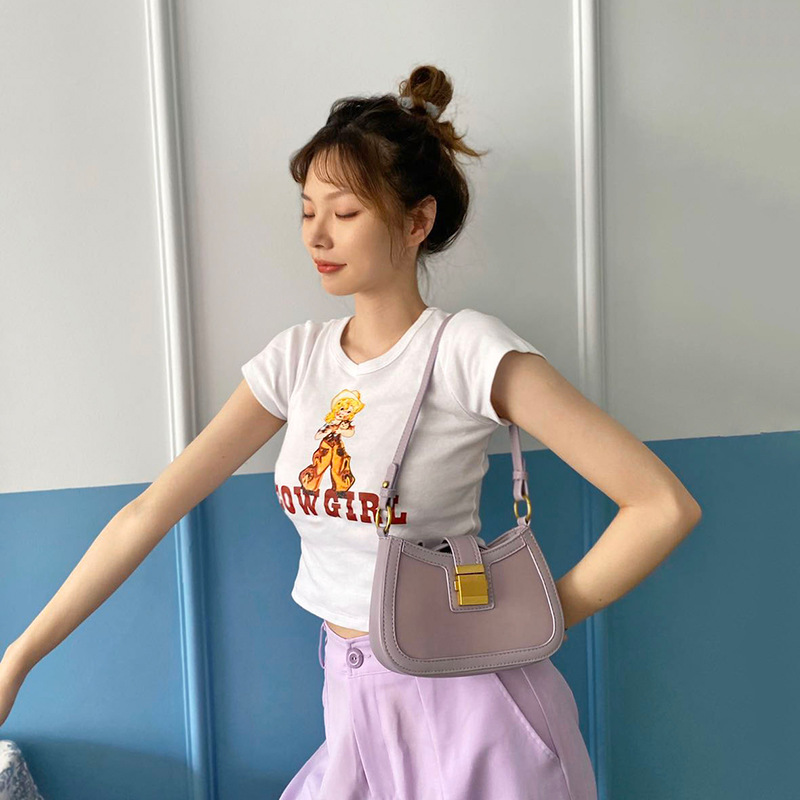 了心2020新款夏季流行腋下包女包网红单肩包法式小众法棍包包