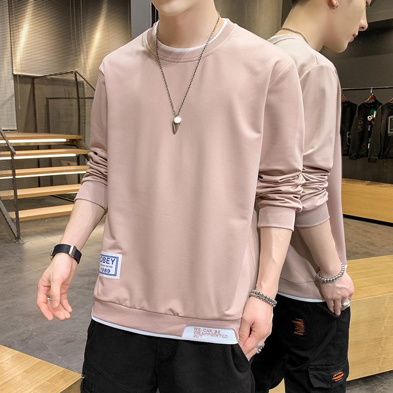 W910-P22春秋季男装卡通印花圆领卫衣男潮牌宽松长袖T恤青年