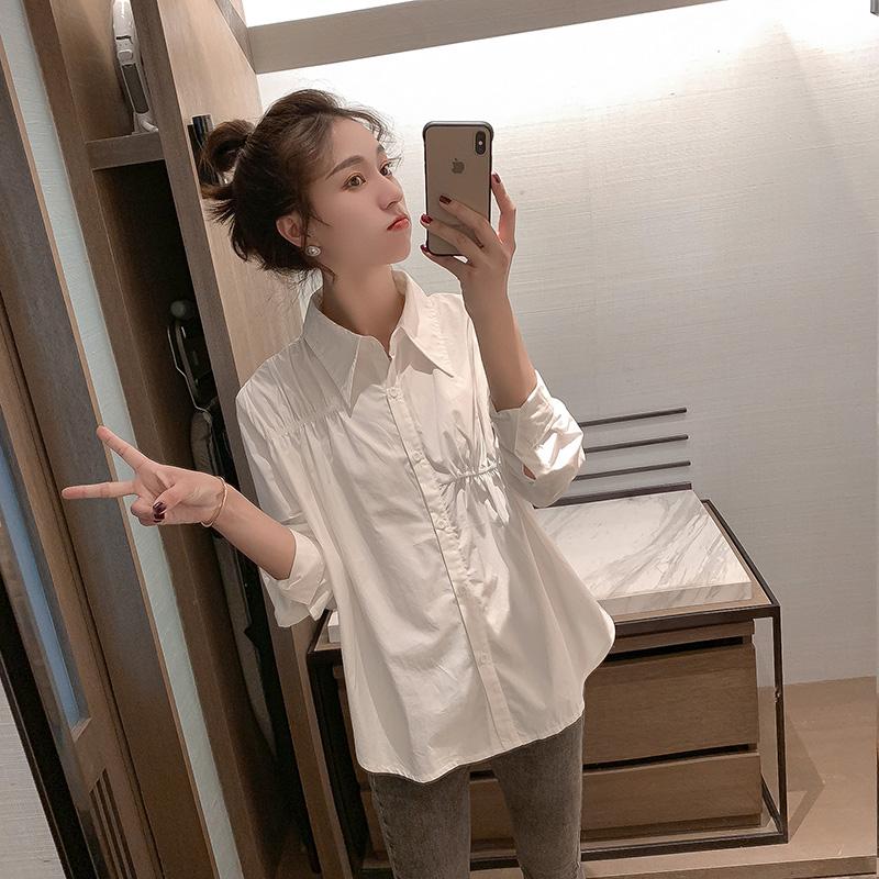 假一赔十小谷粒白色衬衫女设计感小众秋季上衣长袖轻熟复古风新款百搭显瘦