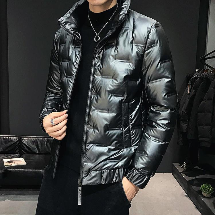 2021新款韩版加厚男士白鸭绒羽绒服