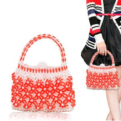 手工DIY串珠编织成人制作碎花包包手提包女包材料包散珠创意饰品
