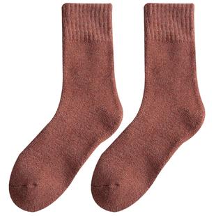 子女纯色ins潮秋冬季黑色中筒袜