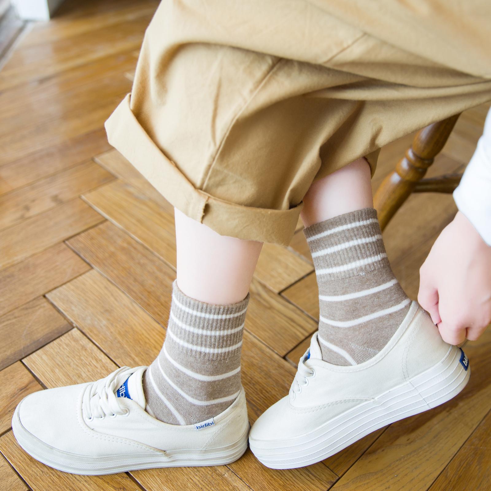 热销80件有赠品女袜子女中筒袜韩版日系ins潮百搭纯棉条纹韩国薄款棒球夏季夏天