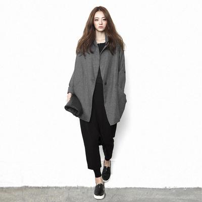 原创设计师品牌女装外套中长款宽松显瘦大码2020春秋个性风衣上衣