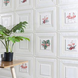 墙纸自粘防水防撞防潮背景墙装饰壁纸3d立体卧室温馨软包背景墙贴
