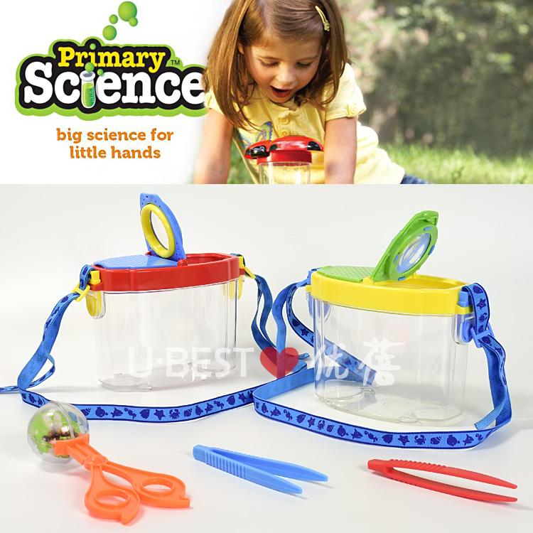 儿童昆虫收集盒捕虫器蝴蝶网笼昆虫观察器放大镜儿童户外探索玩具
