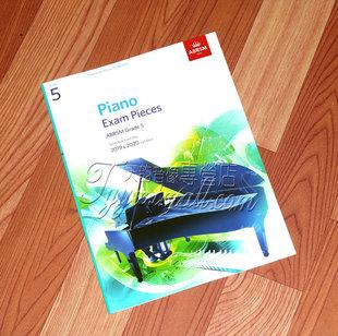 正版  英皇钢琴考级作品 2019-2020 第五级 5级曲目英文版
