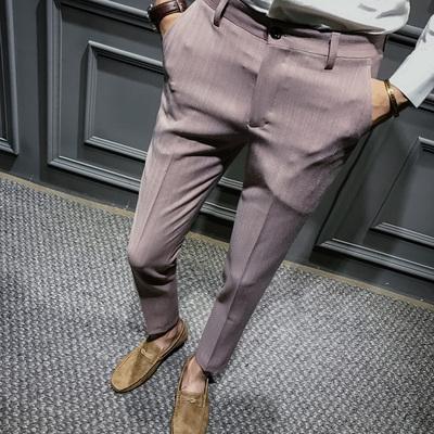 英伦中国风秋装新款修身男士休闲裤小脚长裤潮K121-P75 100%涤纶