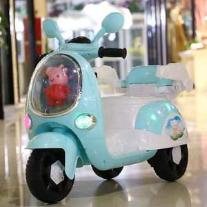 小孩玩具车类可坐广场儿童电动车摩托车可坐人带遥控小车摇空器6v