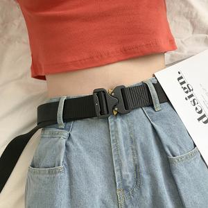 帆布尼龙自动扣装饰皮带