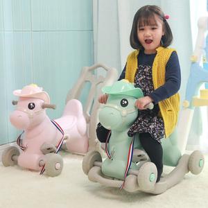 领10元券购买乐智在儿童摇摇马4合1滑行木马带音乐大号婴儿玩具1-2-3周岁宝宝