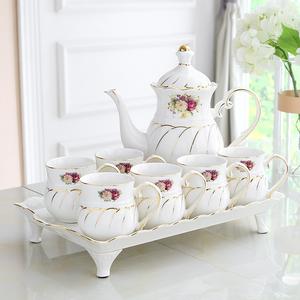欧式水杯套装陶瓷高档客厅杯具家庭简约茶壶茶具茶杯家用杯子套装