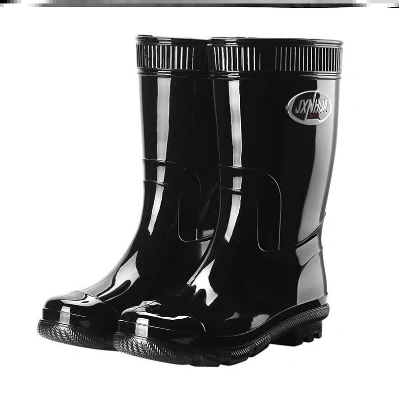 Spring and summer rain shoes Rain Boots Mens high tube medium tube short tube labor protection fashion cotton rubber shoes water boots overshoes waterproof shoes