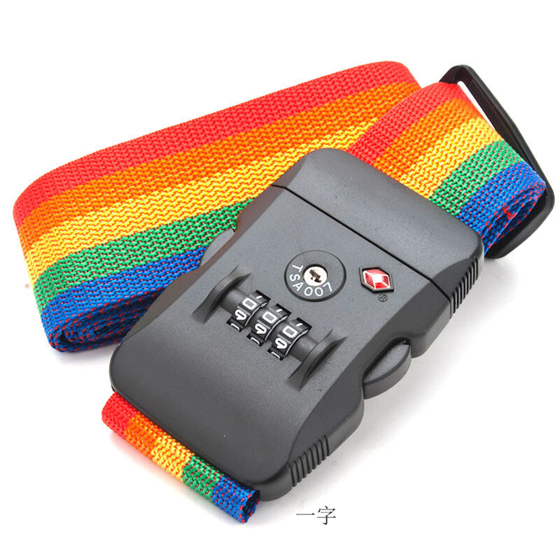 Багаж бандаж слово крест упаковочные ленты род коробки чемодан порка TSA запереть проверить арматура пакет коробка группа