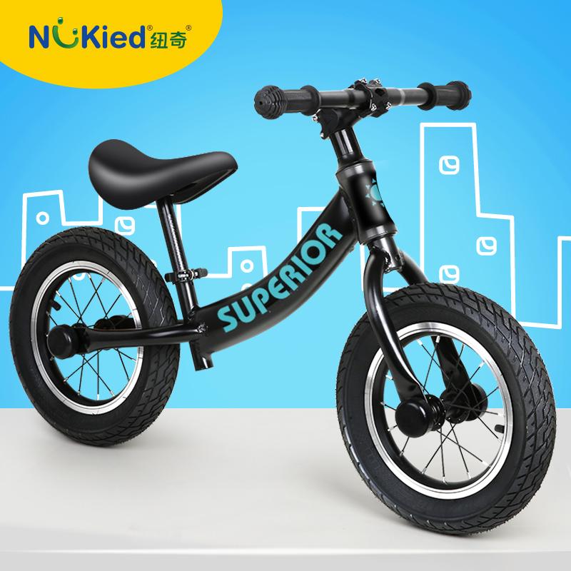 (用470元券)纽奇儿童平衡车1-3-6岁宝宝自行车无脚踏滑行车溜溜车小孩滑步车