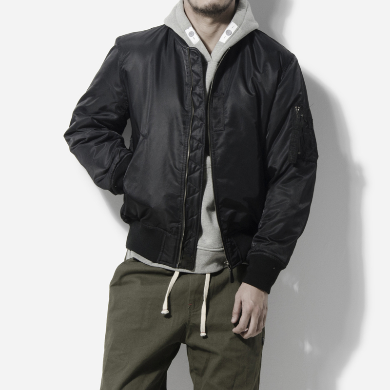 American classic solid color MA1 Air Force pilot jacket student couple basic Baseball Jacket cotton padded jacket