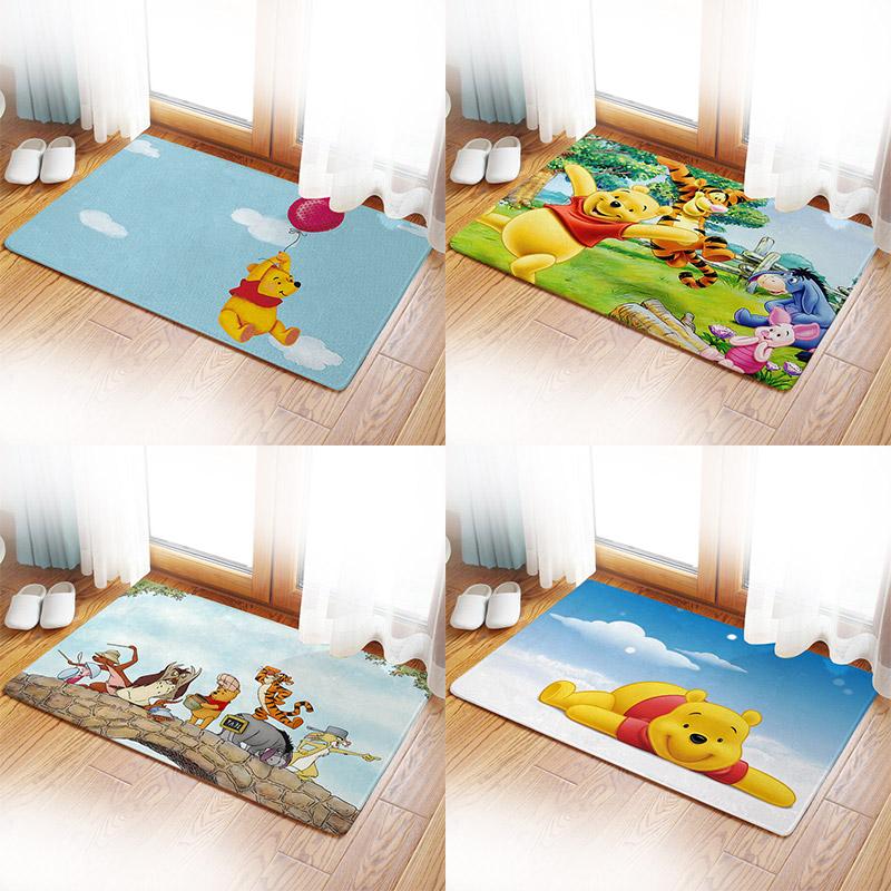 小熊维尼 Winnie the Pooh 噗噗熊 双层地垫浴室短绒防滑地垫卧室