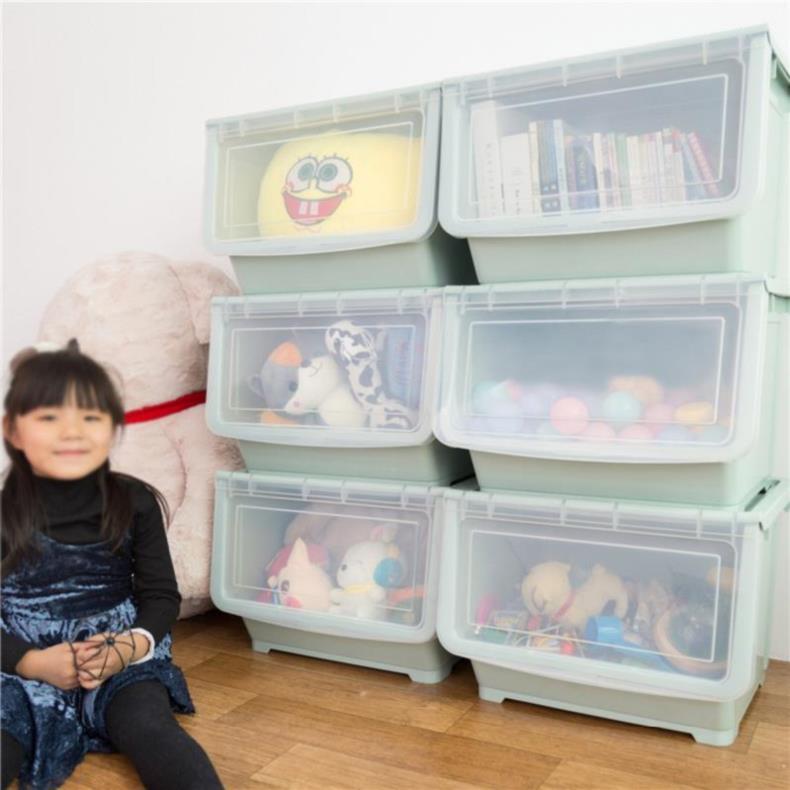 Kitchen storage box multi-layer storage room snacks simple Chinese lovers storage plastic household box family