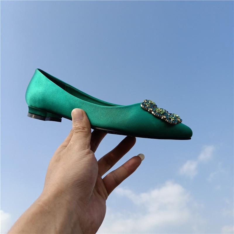 Green wedding shoes children 2020 new wedding shoes blue sea