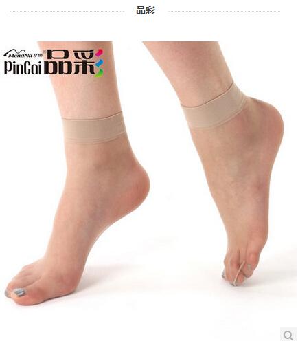 15双 梦娜品彩水晶丝超薄短丝袜 脚尖透明女士低帮防勾丝对对袜子