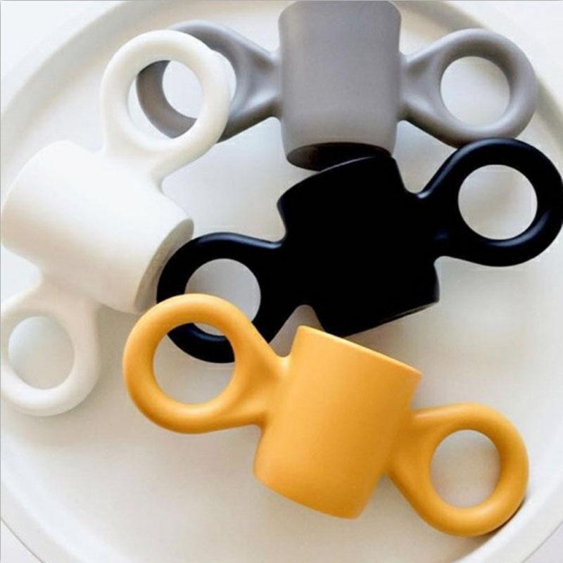INS爆款丹麦儿童可爱大耳朵杯双耳隔热水杯牛奶杯情侣马克随手杯