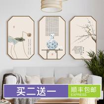 荷花手绘横幅水墨字画中式装饰画客厅卧室挂画花鸟画国画