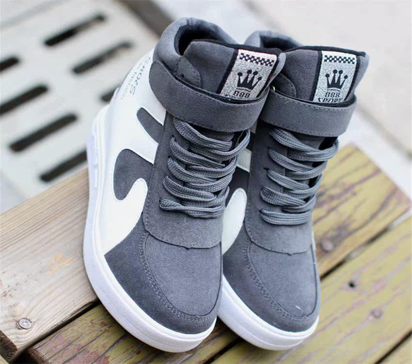 30 31-33小码34冬季加绒内增高运动鞋韩版学生高帮女鞋保暖棉鞋¥