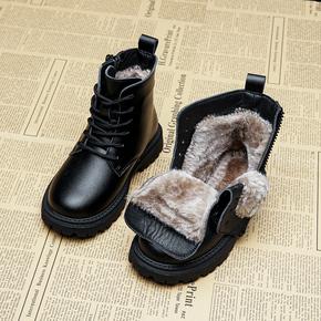 女童马丁靴2020年新款加绒童鞋棉鞋大雪地秋冬靴子儿童短靴男童靴