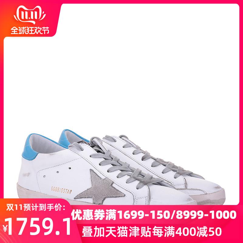Golden Goose Deluxe Brand男小脏鞋牛皮运动鞋G32MS590小白鞋