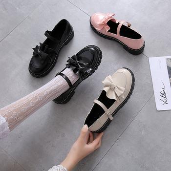 女童10-12-15岁春秋黑色公主鞋皮鞋