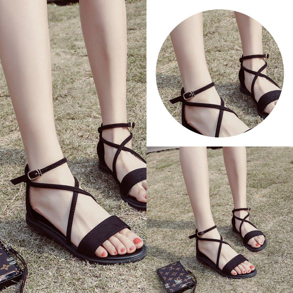 夏季女鞋凉鞋好看小清新百搭女款简单凉鞋子休闲女生新款春季漂亮