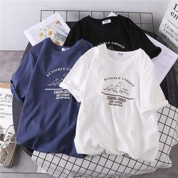 白色短袖t恤女2020年新款春夏季韩版宽松学生百搭大码上衣服ins潮