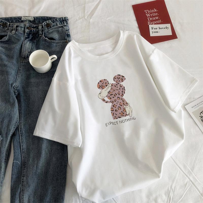 韩版宽松短袖T恤夏季2020新款女装学生ins半袖白色打底衫上衣服潮图片