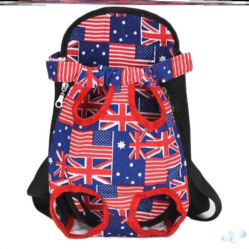 狗狗出行中型旅行外出包透气小型犬户外背包柯基包网布后背双肩包
