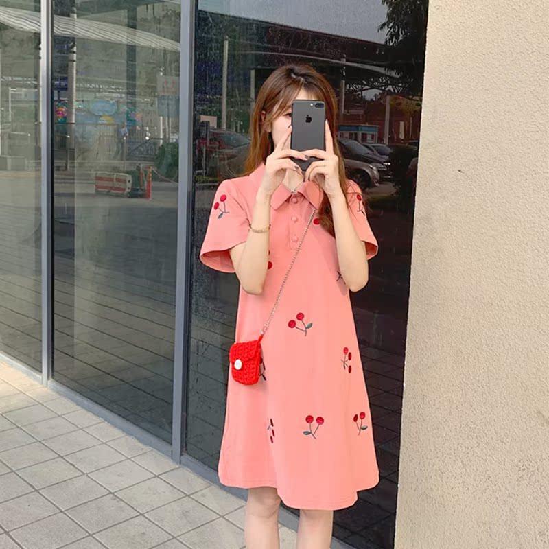 智熏法式梗桔初恋矮小女生连衣裙(用10元券)