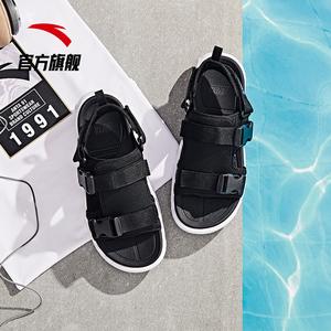 安踏运动凉鞋男鞋2019新款绑带潮流鞋子外传软底运动休闲沙滩凉鞋